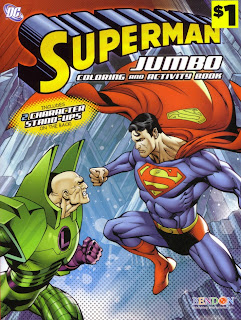 Front cover of Superman Jumbo Coloring And Activity Book