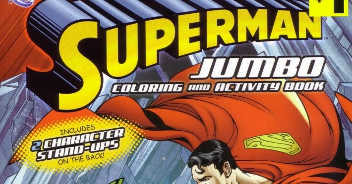Superman Jumbo Coloring and Activity Book Color DC Comics Blue Cover