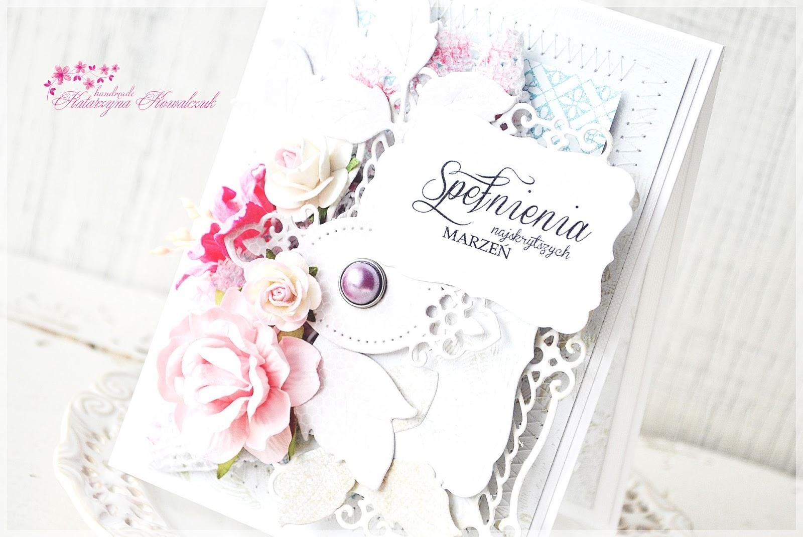 kartka okolicznościowa, urodzinowa,kwiatowa scrapbooking