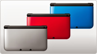 3ds xl red silver blue nintendo