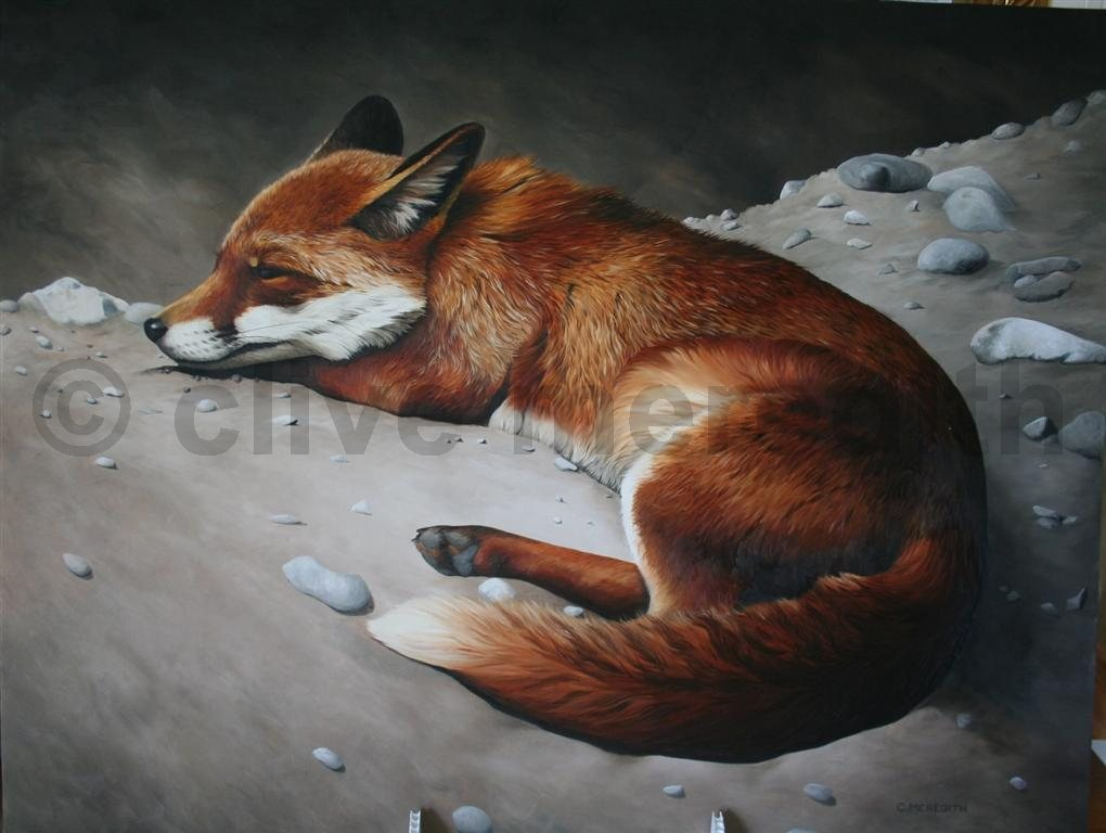 Ive Now Signed My Fox Painting And Whilst I Think I Could Add More To The Foreground I Also Think That It May Detract From The Centre Point Of The Painting
