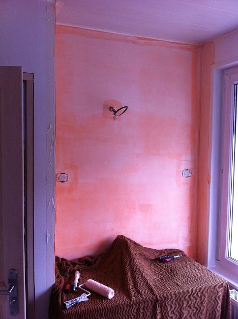 R novation de notre maison faches thumesnil sous couche primaire d 39 accrochage dans la salle - Sous couche salle de bain ...