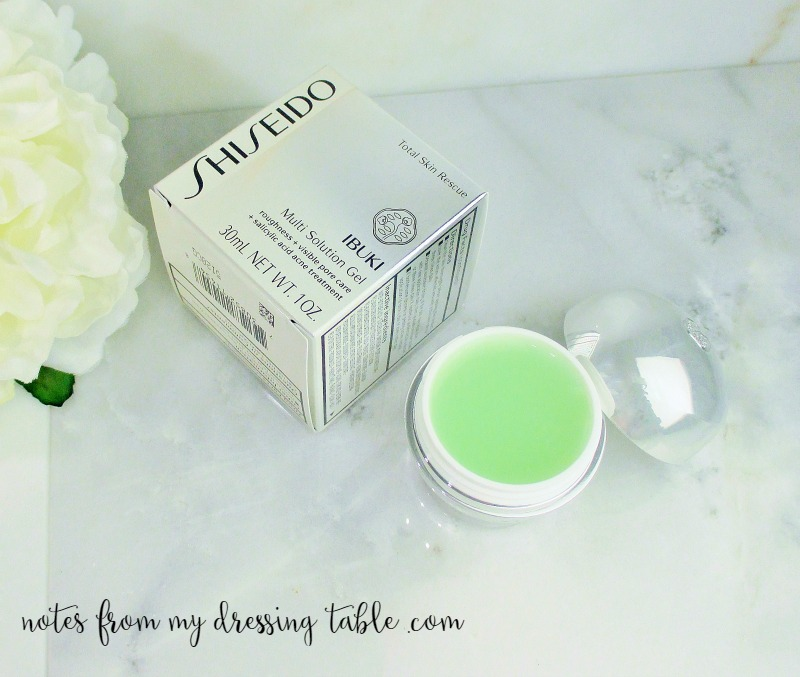 Perfect Your Skin with Shiseido Ibuki Multi Solution Gel | My Notes and a Giveaway Product Detail notesfrommydressingtable.com