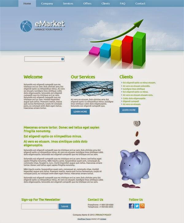 eMarket - Free Wordpress Theme