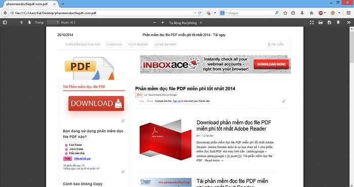 Đọc file PDF bằng trình duyệt Firefox