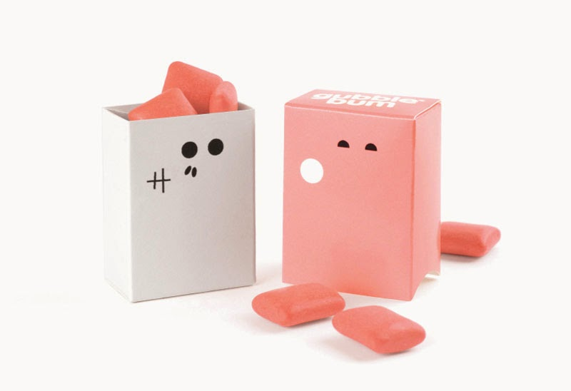 packaging de chicles Gubble Bum