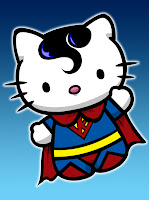 Hello Kitty in Superman costume