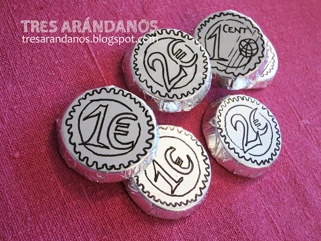 diy monedas de chocolate sin molde