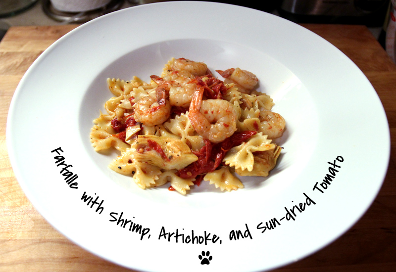 ... : Quick Spring Fix: Shrimp, Artichoke, and Sundried Tomato Pasta