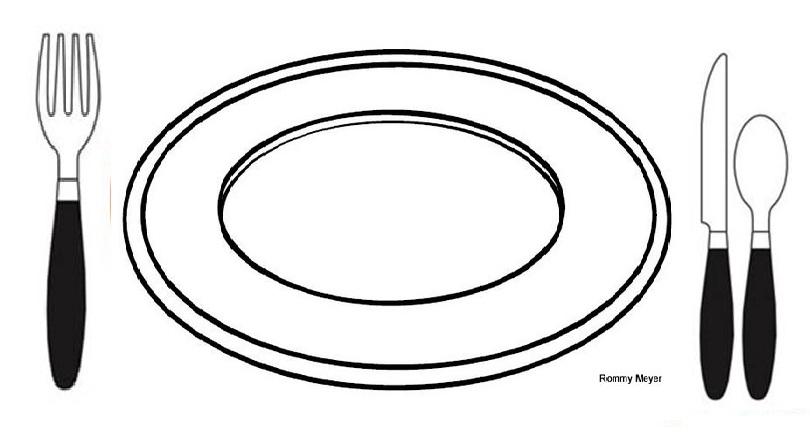 El plato del buen comer para dibujar - Imagui