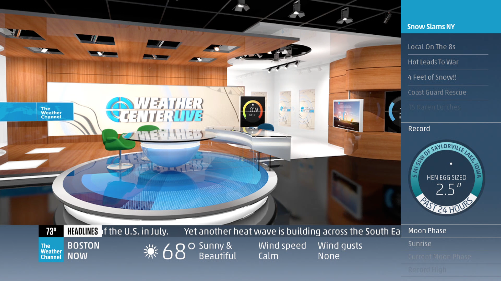 weather channel changes