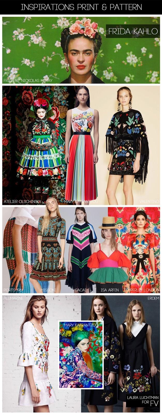 Frida Kahlo print pattern trend inspiration