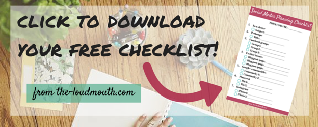 Social Media Scheduling Checklist for Bloggers