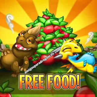 imagen de obten comida gratis en dragon city