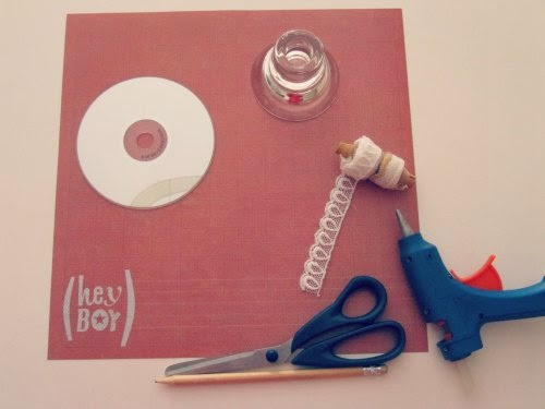 Material para hacer un mini stand para cupcake
