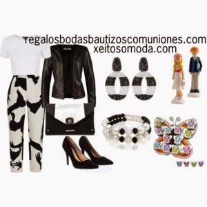 imagen look comunion pantalon blanco y negro