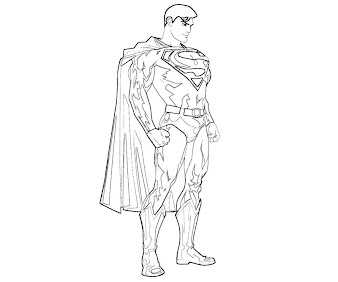 #6 Superman Coloring Page