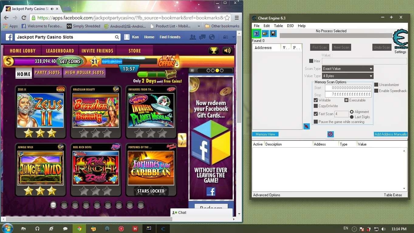 jackpot party casino cheat engine 6.3 download