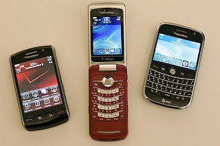 BlackBerry Storm, BlackBerry Pearl Flip, BlackBerry Bold