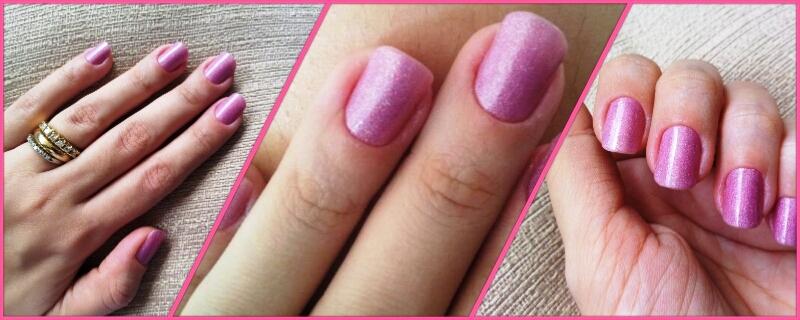 moda estilo esmalte unhas colorama impala pink rosa glitter brilho