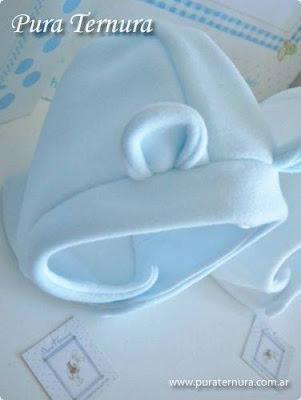 gorritos y escarpines tela polar bebés
