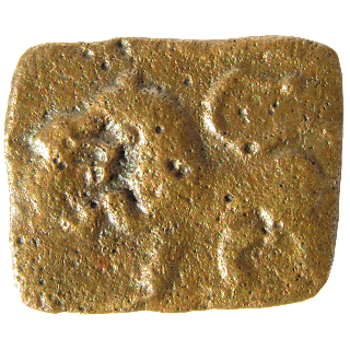[SCH001] Sangam Age Cholas - Rectangular copper/bronze coin