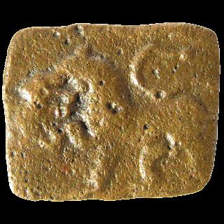 [SCH001] Sangam Age Cholas - Rectangular copper/bronze coin