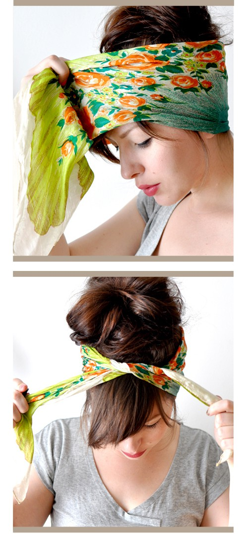 how to tie a hair scarf more hairstyles