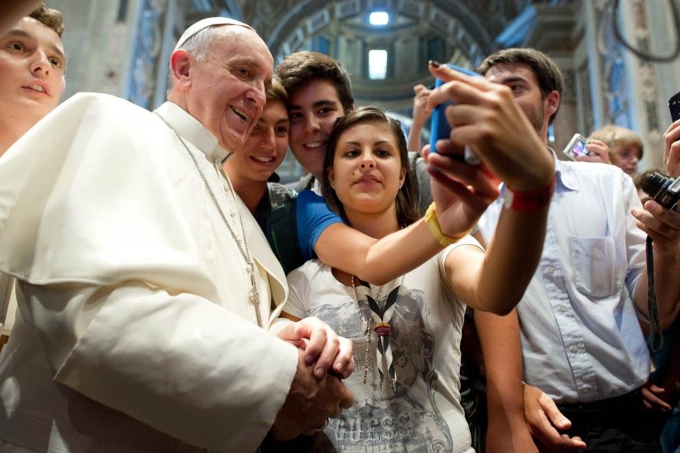 """first papals selfie"""