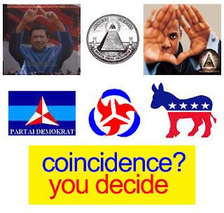 sby demokrat dan simbol zionis yahudi