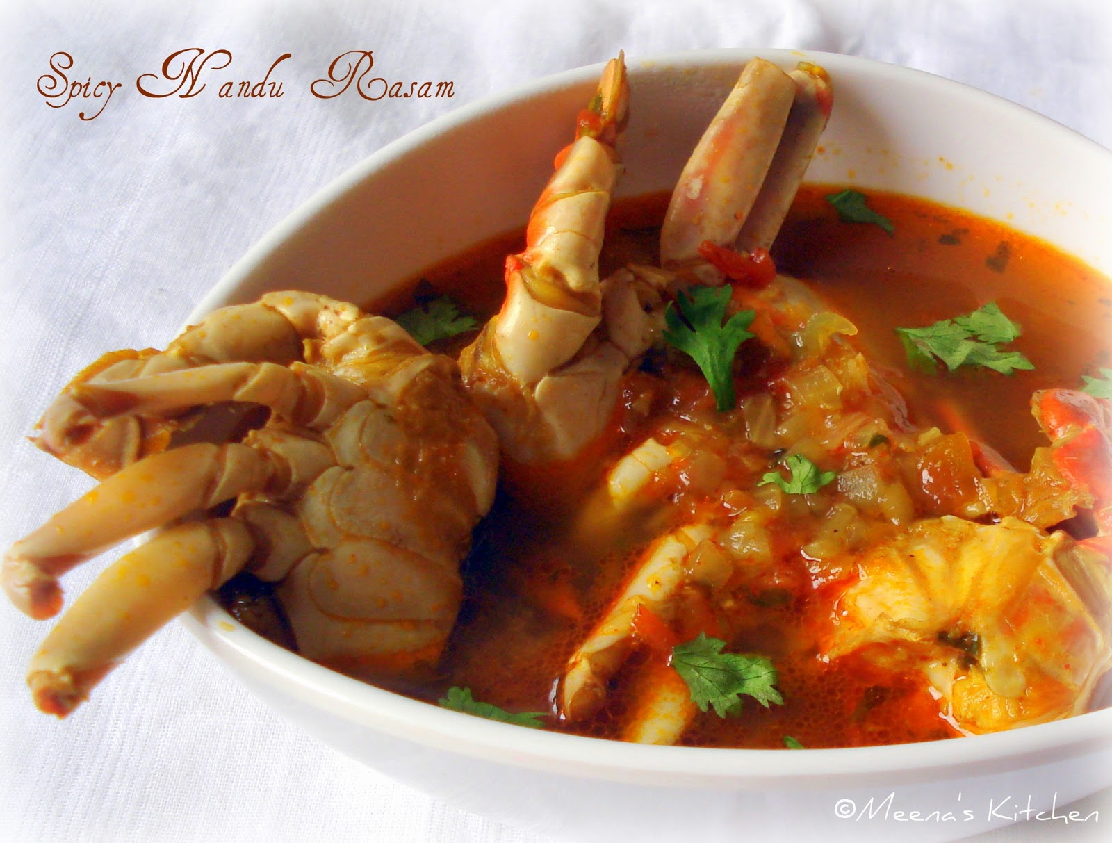1 MB from Meena's Kitchen: Spicy Nandu Rasam / Crab soup