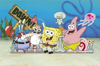 foto gambar kartun spongebob dan kawan-kawan