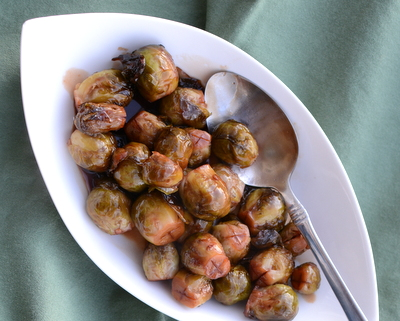 Wine-Glazed Brussels Sprouts ♥ AVeggieVenture.com. This one wins no beauty contests but in the taste department? Special!
