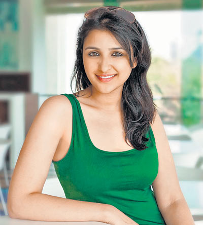 Parineeti Chopra in green top - Parineeti Chopra Hot Pics