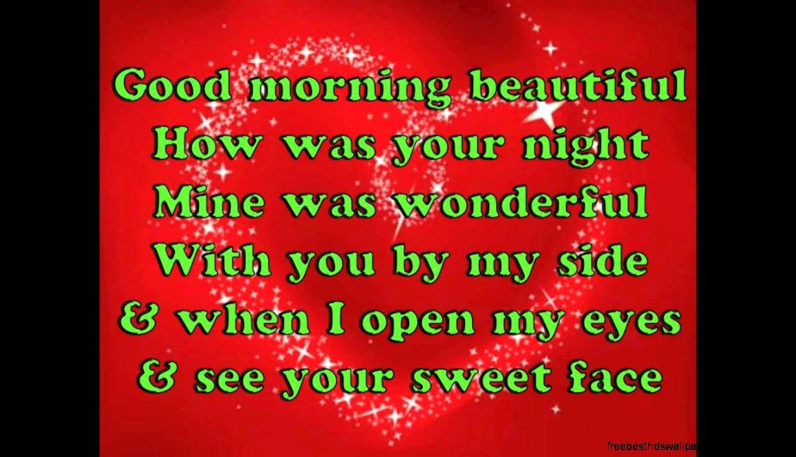 Good Morning Beautiful Lyric : Song lyrics good morning beautiful wallpaper free best