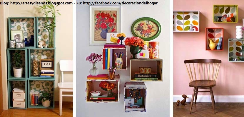 Ideas para decorar con cajas de madera for Tips decoracion de hogar