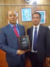 Himali School director Rabindra Subba (left) with school principal Eric Yonzon