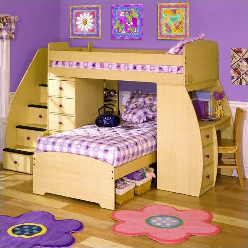 غرفة نوم اطفال باللون البنفسجي