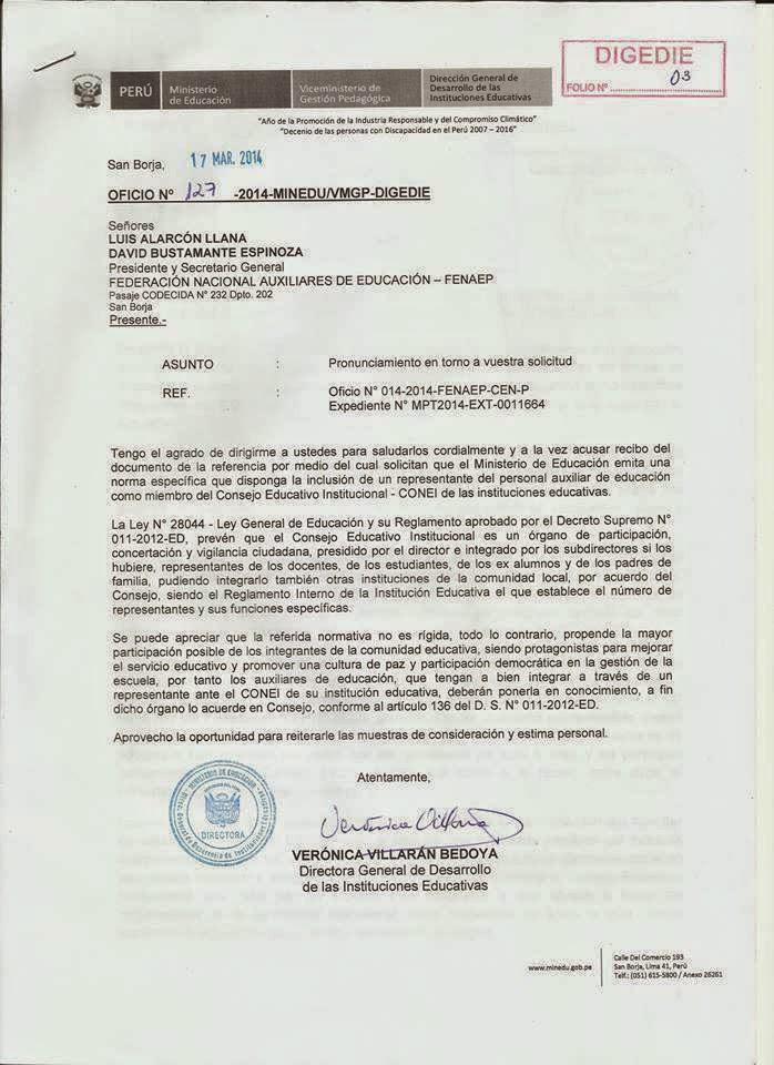INCORPORACION EN CONEI