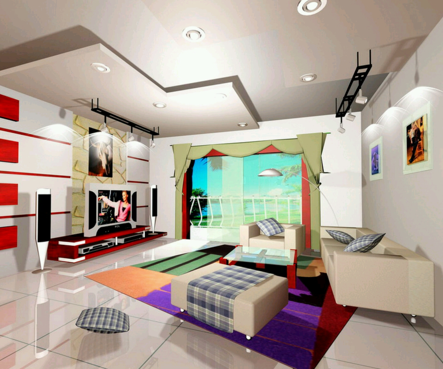 New home designs latest ultra modern living rooms for New room interior design