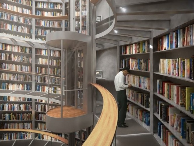 Top interior design modern library designs for Best home library designs