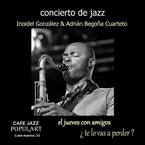 concierto de jazz Inoidel Gonzalez saxo