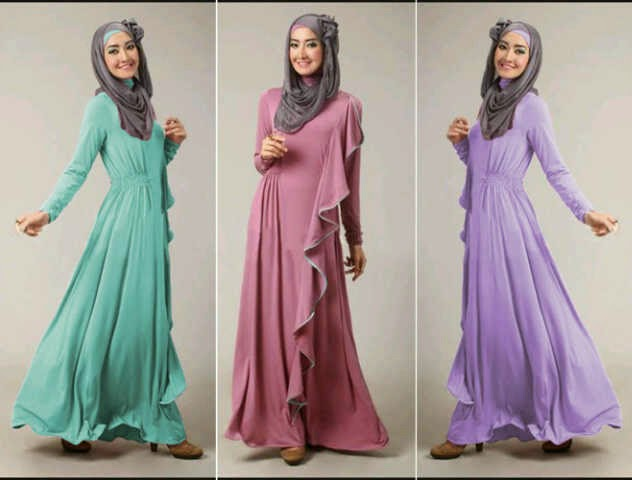 Model busana muslim anak muda terbaru Foto baju gamis anak muda terbaru