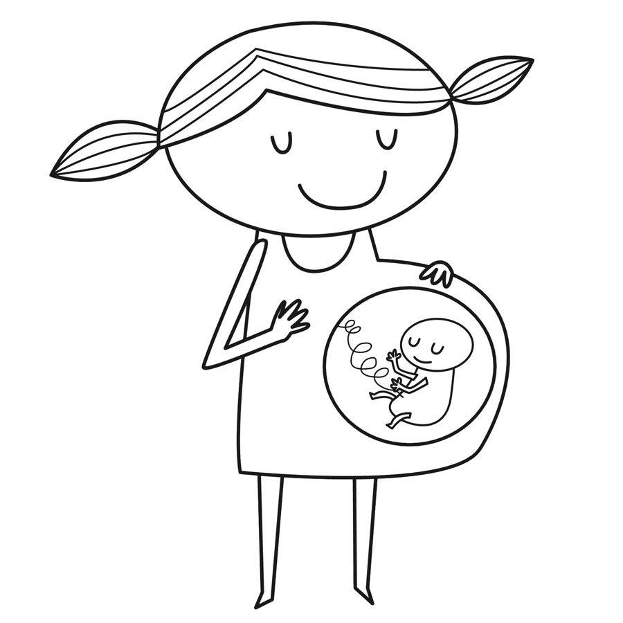 Dibujos Para Colorear De Mamás En Casa ~ Ideas Creativas Sobre Colorear