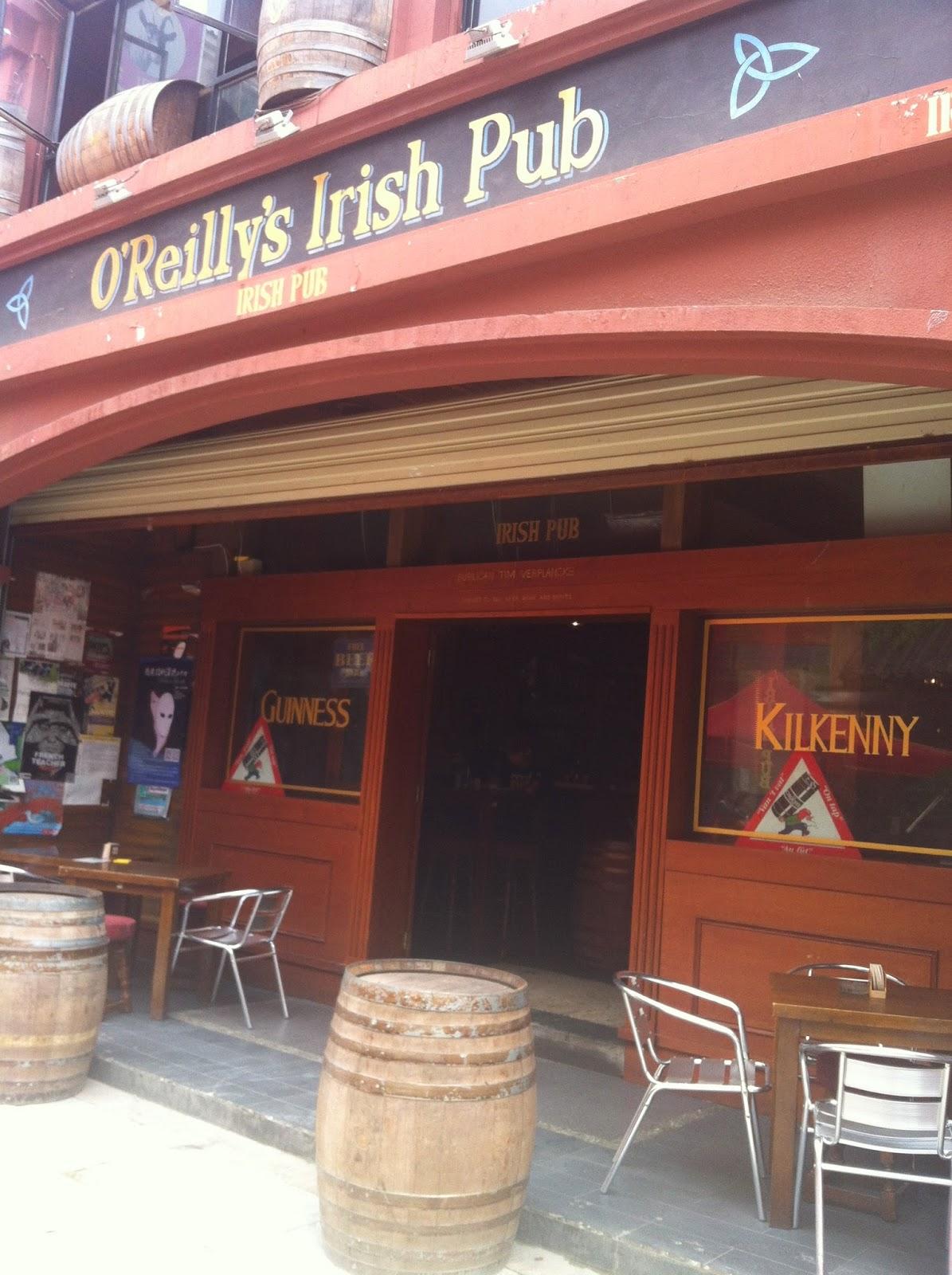O'Reilly's Irish Pub outdoors in Kunming