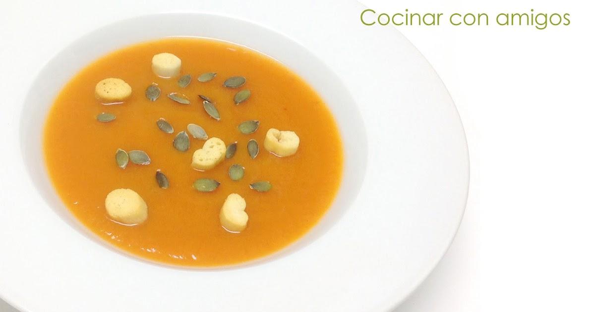 Crema de calabaza cocinar con amigos for Cocinar con olla express