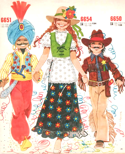 Mod and Mint: Vintage Childrens Halloween Fashion Illustrations 1974