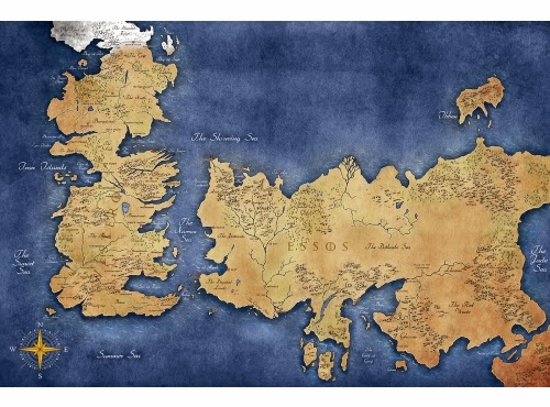 game of thrones map poster-#10