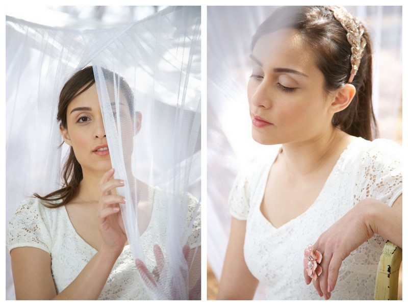 I love this dreamy anthropologieinspired styled bridal shoot