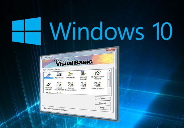 Installing VB6 in Windows 10 64 Bit